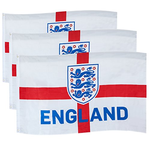 England FA Official Soccer Gift 3 Lions 5x3ft 3 Pack Crest Body (England Soccer Kit)
