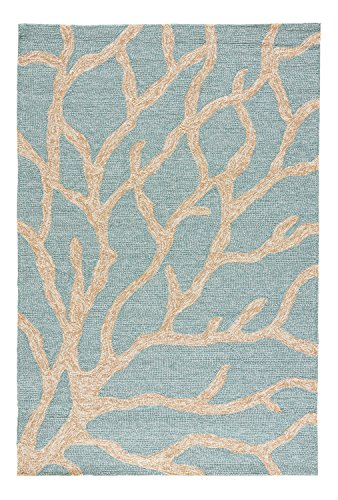 Jaipur Living Coral Indoor/ Outdoor Novelty Blue Area Rug (3'6