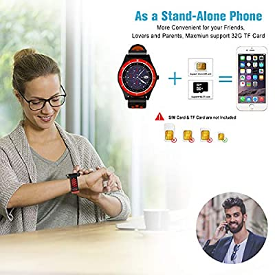 Smart Watch for Android Phones,Android Smartwatch Touchscreen with Camera,Smart Watches with Text,Bluetooth Watch Phone with SIM
