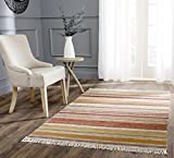 Safavieh Striped Kilim Collection STK311A Hand Woven Beige Premium Wool Area Rug (2'6″ x 4′) Review