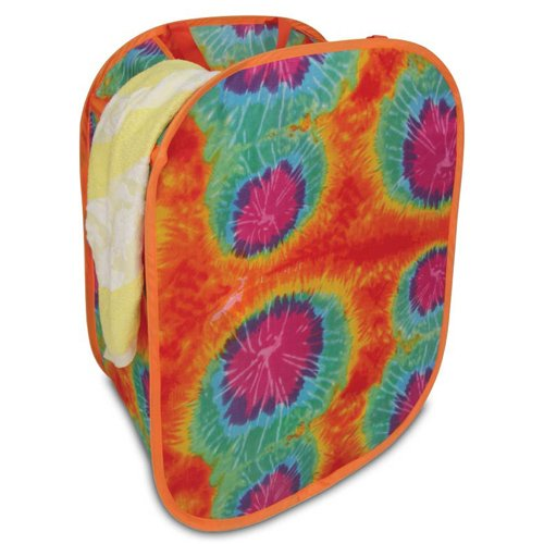 TIE-DYED FOLDABLE HAMPER