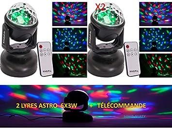 2 Efectos de luz LED Lira Astro con mando a distancia MULTI ...