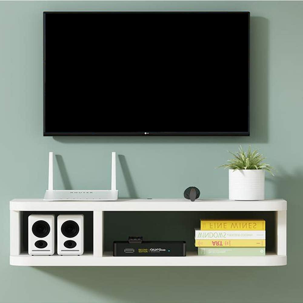 AFEO-soporte para televisor Set-Top Box enrutador baratijas Estante de Almacenamiento Dormitorio Sala de Estar Mueble TV de Pared Estante de la Pared Estante Flotante Tablero de TV Consola Multimedia: Amazon.es: Hogar
