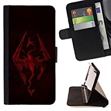 - Skyrim Dragon - Premium PU Leather Wallet Case with Card Slots - King Case For Sony Xperia Z1 L39