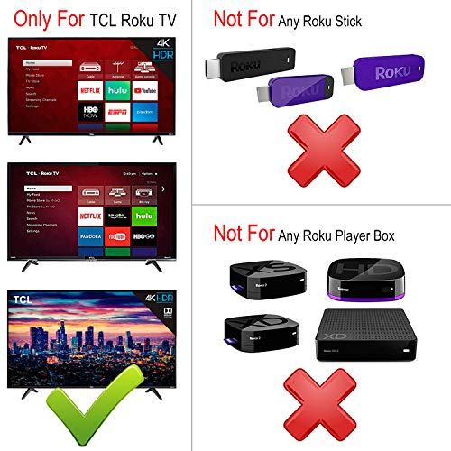 Remote Control RC280 with Netflix HBO Sling Key Applicable for TCL Roku TV  55S405 40S3800 50UP120 65S401 32S301 32S850 32S3700 32S3750 43FP110 43UP120