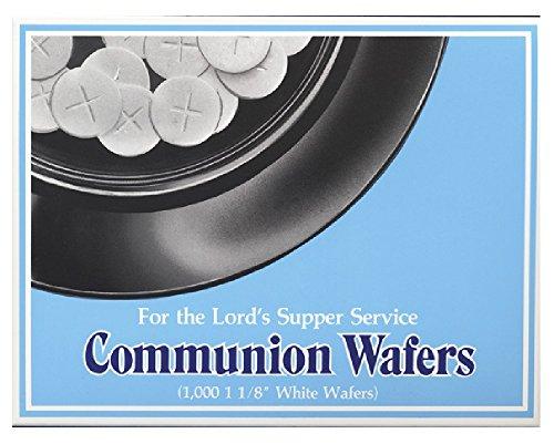 Broadman Church Communion White Wafers - Cross Design (1 - 1/8