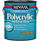 Minwax 14444000 Polycrylic Water-Based Protective Clear Finish, 1 gallon,  Semi-Gloss
