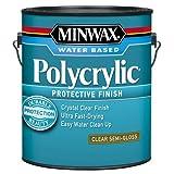 Minwax 14444000 Polycrylic Water-Based Protective Clear Finish, 1 gallon, Semi-Gloss