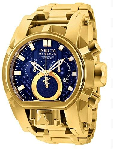 Reserve Men's 52mm Bolt Zeus Magnum Swiss Quartz Dual Movement Bracelet Watch () - Invicta 25209