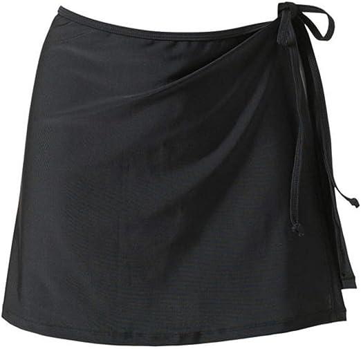 Woopower Falda de Bikini con Falda de Cintura Alta para Mujer ...