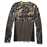 Under Armour Coldgear Infrared Scent Control Tevo Crew - Men's Mossy Oak Treestand / Velocity Large