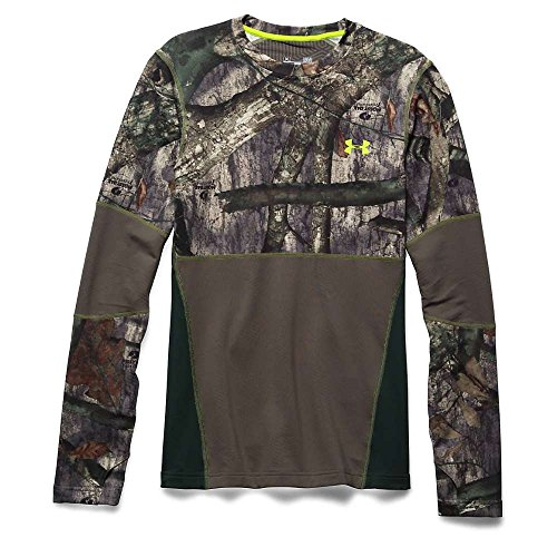 Under Armour Coldgear Infrared Scent Control Tevo Crew - Men's Mossy Oak Treestand / Velocity Large by Under Armour