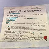 Rare 1923 August Belmont Jr. Signed Stock Certificate Belmont Stakes COA - PSA/DNA Certified - Autographed Horse Racing Miscellaneous Memorabilia