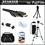 Starter Accessories Kit For The Fuji Fujifilm X-Pro 1, X-Pro1, X-A2 Digital Camera Includes Deluxe Carrying Case + 50 Tripod With Case + Mini HDMI Cable + USB 2.0 Card Reader + LCD Screen Protectors + Mini TableTop Tripod + MicroFiber Cleaning Cloth