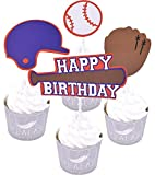 Zealax Baseball Sport Theme Party Cake Cupcake Decorative Toppers Kit Kids Birthday Supplies