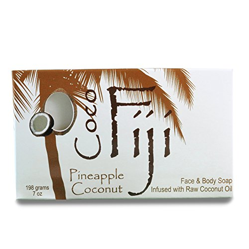 Coco Fiji, Coconut Oil Infused Soap,Pineapple Coconut 7oz ()