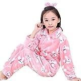 BLOSSOMLIFE Autumn Winter Comfort Little Girl Pajamas Set For Girl Children's Costumes Flannel PJS Set Age 2-10 (7T/8T, Rabbit)