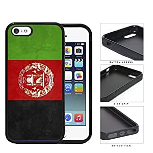 Afghanistan Flag Black Red and Green Hard Rubber TPU Phone Case Cover iPhone i5 5s by runtopwell