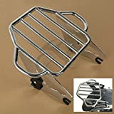 TCMT Chrome Adjustable Detachable Two Up Tour Pak Motorcycles Backrest Mounting Luggage Rack For Harley Road Glide 2009 2010 2011 2012 2013 2014 2015 2016 2017 2018