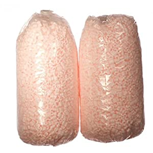 Bubblefast! Brand 7 cu ft Pink Anti Static Packing Peanuts - (Two 3.5 cu ft Bags)