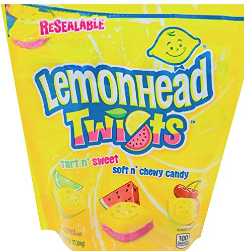 NEW Lemonhead Twists Tart N Sweet Soft n Chewy Candy Net Wt 7.75 Oz (1)