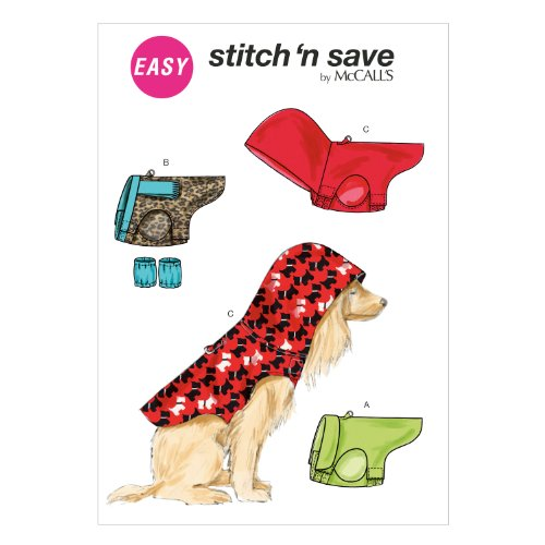 Hooded Sweater Pattern (McCall Pattern Company M6823 Pet Clothes Sewing Template, Size)