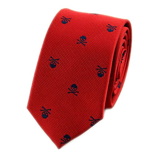 Silk Striped Neckwear - WWWML Neck Ties For Men Polyester Silk Neckties Skull Print Business Neckwear KL003