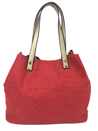 Print Red Bag Lovely Summer Expanding and Bag Coral SURF with Glitter Canvas Soft Straw in Beach Summer in Comfortable Colours Zips with Glitter Bag Shopper Handles Designer Large Canvas Waves Tote qCvP5wB