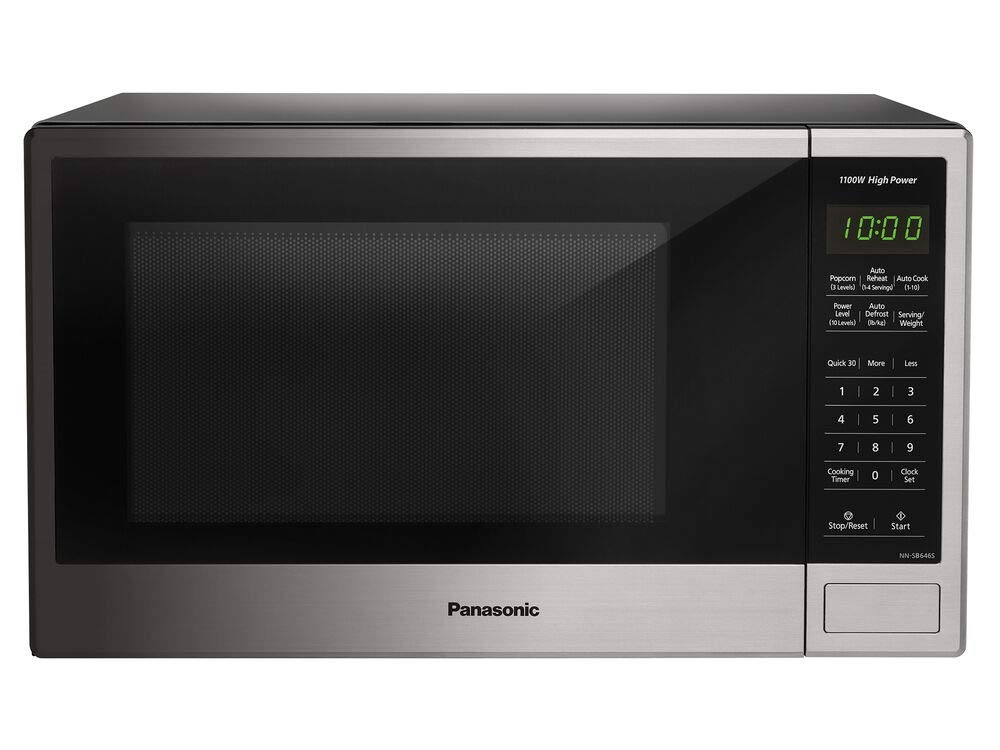 Panasonic NN-SB646S Countertop Microwave Oven – With Smart Keypads and Controls - Stainless Steel - 1.3 Cu. Ft. 1100W (Silver) (Renewed)