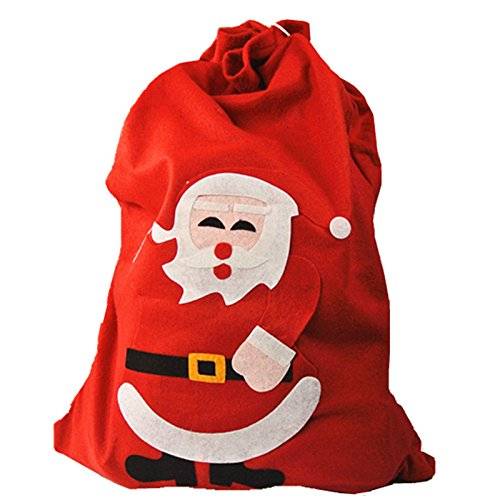 UNIQOOO Red Large Xmas Christmas Santa Claus Holiday Present Gift - With Linda Boutique Paper