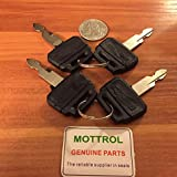 4 PCS K250 KEYS Kobelco Case Excavator Kawasaki Wheel Loaders Gehl Yutani MDI