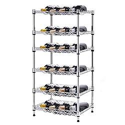 NEW 6-Shelf 24 Bottles Wine Rack Bottle Holder Organizer Display Liquor