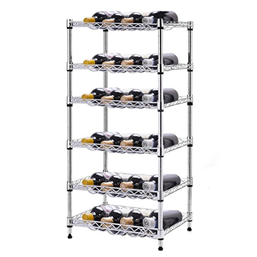 NEW 6-Shelf 24 Bottles Wine Rack Bottle Holder Organizer Display Liquor