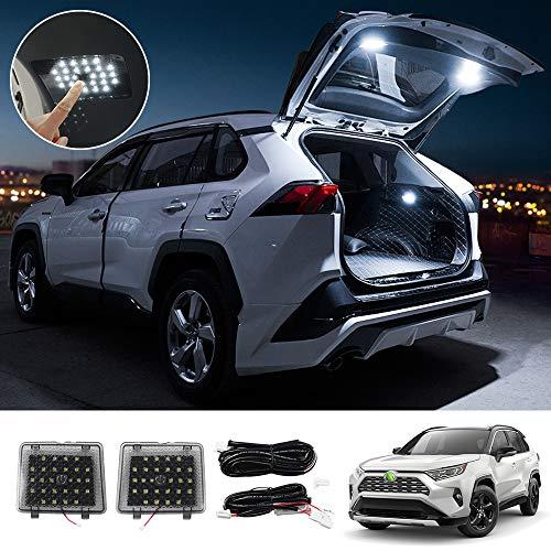 Huadi Luces LED de carga para interior de maletero, lámparas decorativas para atmósfera, iluminación de techo para T…