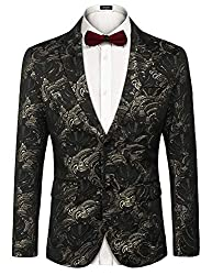 Men's Floral Slim Fit Luxury Blazer