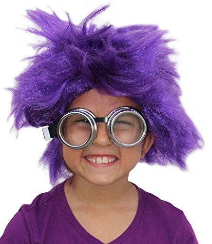 Afro Wig Purple Minion Costume Set Purple Minion Wig and ...