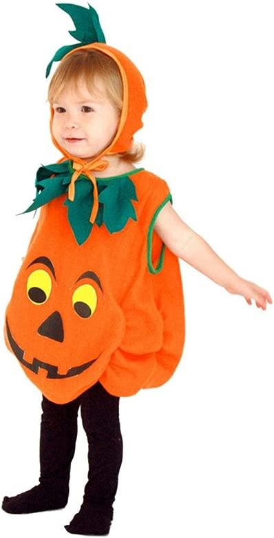 Pueri Disfraz de Calabaza de Halloween Traje para Bebé Niños ...