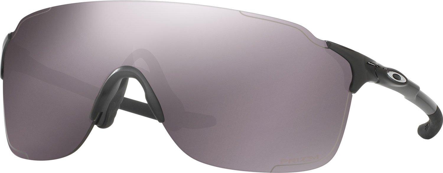 Oakley Men's OO9386 EVZero Stride Rectangular Sunglasses, Polished Black/Prizm Daily Polarized, 38 mm by Oakley