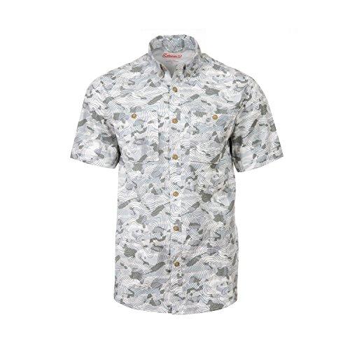 Coleman Printed Guide Shirts (Large, Grey)