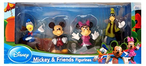 Collectible Teddy Bear Figurine - Beverly Hills Teddy Bear Company Disney Mickey and Friends Toy Figure Playset, 4-Piece