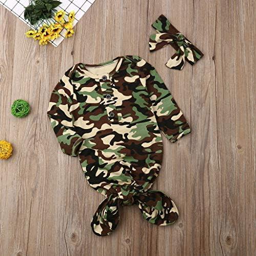 YWLINK Bebé ReciéN Nacido NiñA NiñO Impreso Cuna Saco De Dormir Envolver Swaddle Ropa Conjunto Mono+Banda De Pelo/Conjunto De Sombrero Casual CóModo Regalo De CumpleañOs(Camuflaje, Talla Unica): Amazon.es: Ropa y accesorios