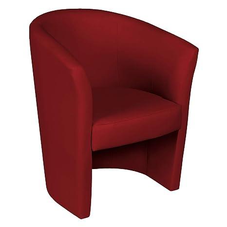 Poltrona Ecopelle Rossa.Esidra Poltroncina Ecopelle Salotto Imbottita 65 X 78 X 60 Poltrona Da Camera Rosso