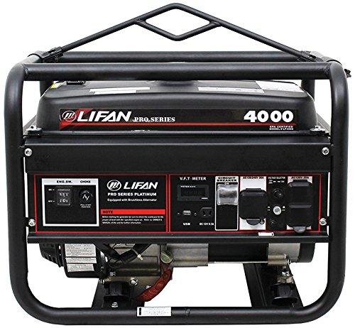 Lifan LF4000-CA 4000 Watt CARB Compliant Pro Series Generator, Black