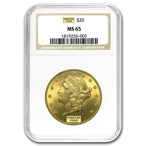 1850 – 1907 $20 Liberty Gold Double Eagle MS-65 NGC G$20 MS-65 NGC