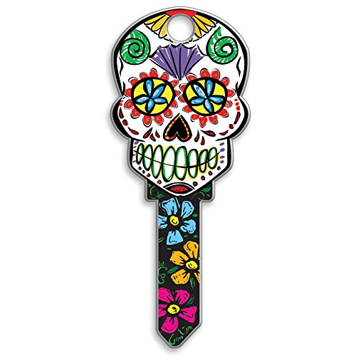 Lucky Line Key Shapes, SUGAR SKULL,  House Key Blank, SC1, 1 Key (Skull Shapes)