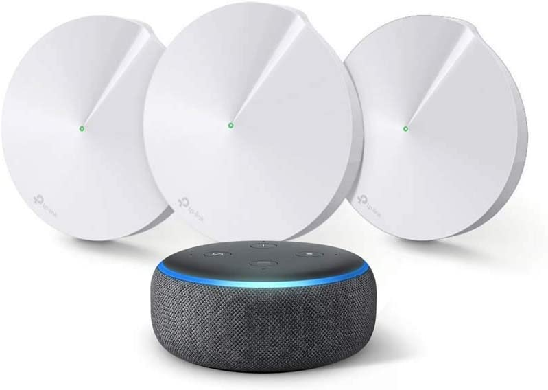 TP-Link Deco Whole Home Mesh WiFi System Bundle with Echo Dot (3rd Gen) charcoal