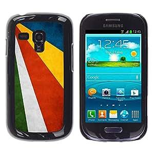 Paccase / SLIM PC / Aliminium Casa Carcasa Funda Case Cover - National Flag Nation Country Seychelles - Samsung Galaxy S3 MINI NOT REGULAR! I8190 I8190N