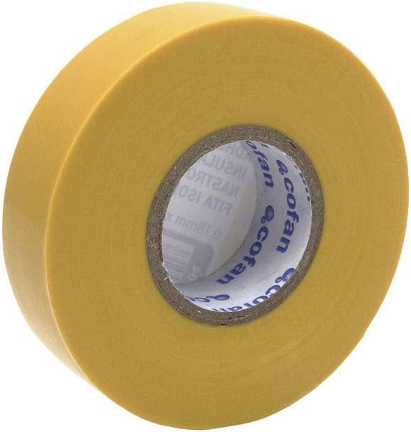 Cinta Aislante Amarilla de PVC 20m x 19mm