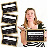 Big Dot of Happiness Gold Year's Eve Party Mug Shots Years Resolutions Photo Booth Props Party Mugshot Signs - 20 Count