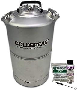 COLDBREAK CLEANKEG-4 Jockey Box, Kegerator, Line Cleaning Kit, Dual Head-Sankey D, for American Beer Couplers, 4 Gallons, Stainless steel